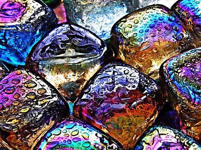 Iridescent Glass Photograph - Glass Abstract 35 by Sarah Loft