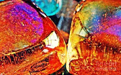 Iridescent Glass Photograph - Glass Abstract 39 by Sarah Loft