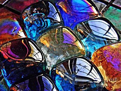 Iridescent Glass Photograph - Glass Abstract 54 by Sarah Loft