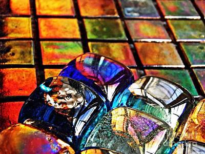 Iridescent Glass Photograph - Glass Abstract 6 by Sarah Loft