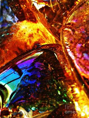 Iridescent Glass Photograph - Glass Abstract 63 by Sarah Loft