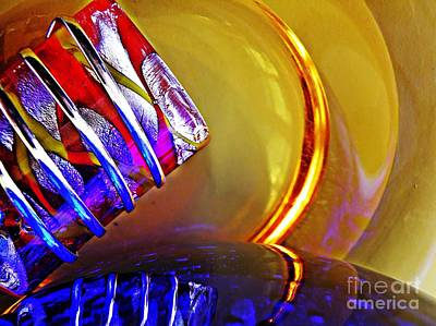 Glass Abstract 656 Print by Sarah Loft