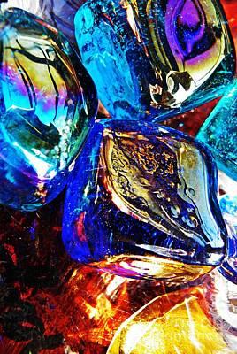 Iridescent Glass Photograph - Glass Abstract 687 by Sarah Loft