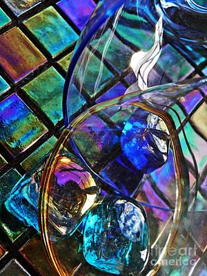 Iridescent Glass Photograph - Glass Abstract 690 by Sarah Loft