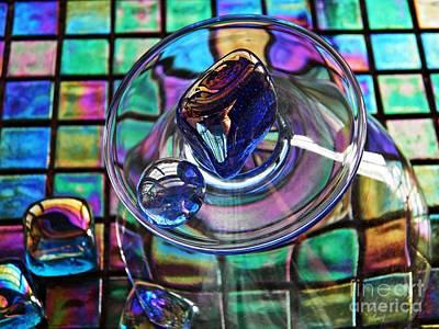 Iridescent Glass Photograph - Glass Abstract 693 by Sarah Loft