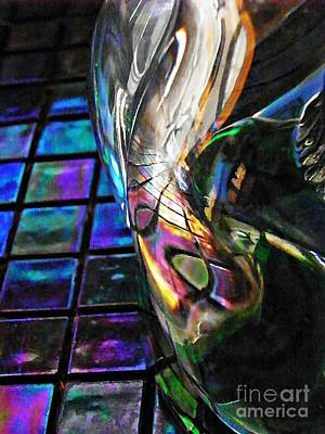 Iridescent Glass Photograph - Glass Abstract 770 by Sarah Loft
