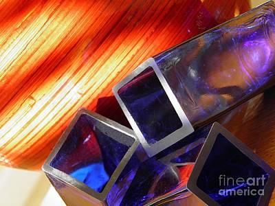 Glass Abstract 777 Print by Sarah Loft