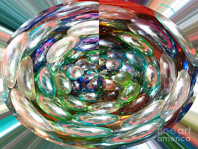 Glass Beads Photograph - Glass Beads by Cheryl Young