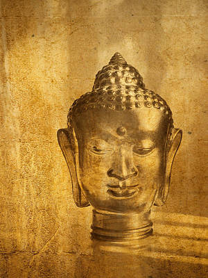 Digitized Image Photograph - Glass Buddha Head # 1 by Stuart Brown
