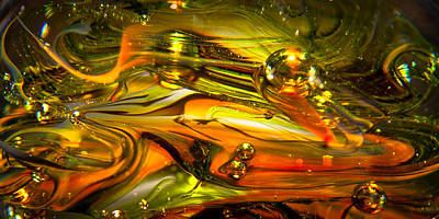 Glass Photograph - Glass Macro Abstract Rgo1 by David Patterson