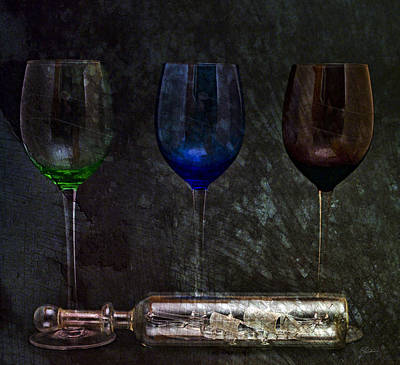 Wine Glasses Digital Art - Glass Managerie 2 by Peter Chilelli