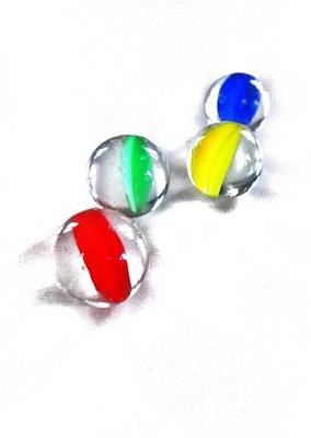 Glass Marbles Print by Marianna Mills
