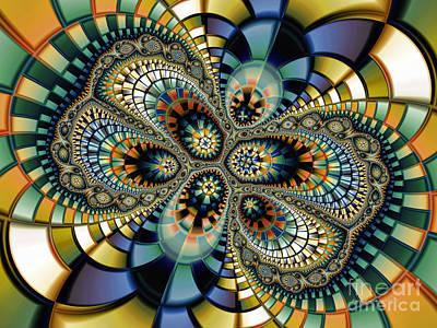 Geometric Abstraction Digital Art - Glass Mosaic-geometric Abstraction by Karin Kuhlmann