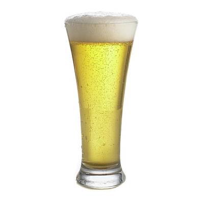 Glass Of Beer Print by Science Photo Library