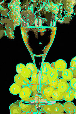 Glass Of White Wine Original by Toppart Sweden