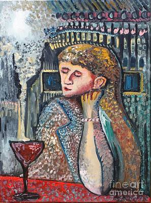 Painting - Glass Of Wine by Michael Kulick