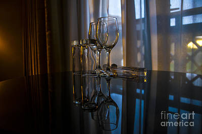 Glass Table Reflection Photograph - Glass Reflection by Svetlana Sewell