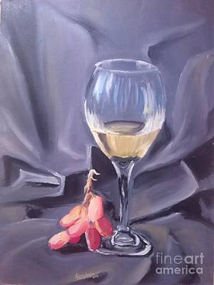 Beer Oil Painting - Glass Still Life by KarishmaticArt -  Karishma Desai