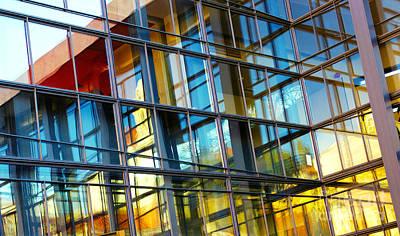 Glass Windows Background Print by Carlos Caetano