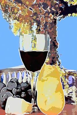 Glass With Red Wine Original by Toppart Sweden