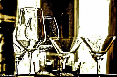 Photograph - Glasses Displayed by Kornrawiee Miu Miu