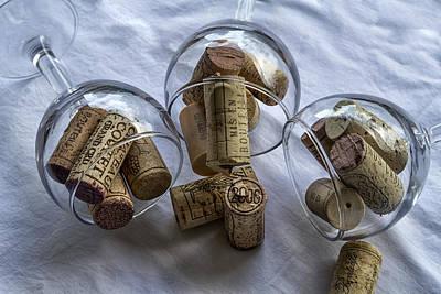 Glasses Of Corks Print by Georgia Fowler