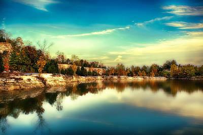 Charles Digital Art - Glassy Klondike Lake by Bill Tiepelman