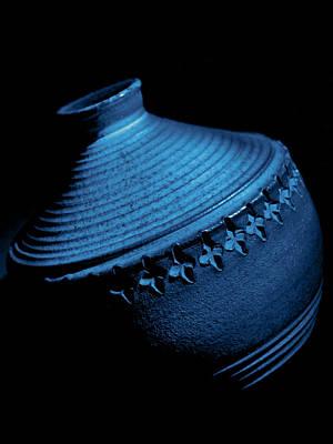 Glazed-blue Print by Tom Druin