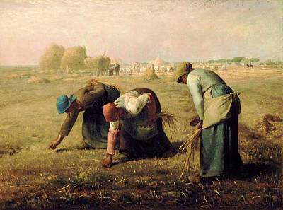 Gleaners Painting - Gleaners by Jean Francois Millet