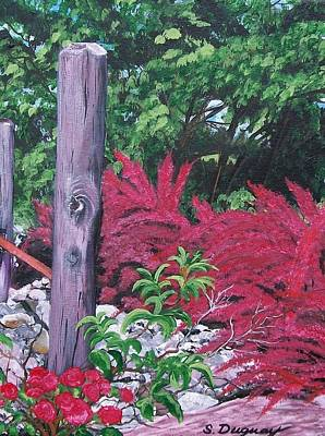 Fushia Painting - Glen Cairn Entrance by Sharon Duguay