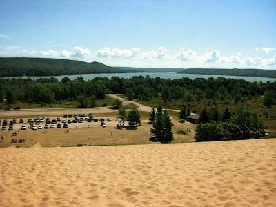Beautiful Vistas Digital Art - Glen Lake From The Dune Climb by Michelle Calkins