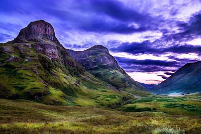 Glencoe Pass Scotland Print by Niall McWilliam