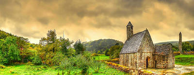 Images Of Cats Photograph - Glendalough Tower And St Kevin's Church by Kim Shatwell-Irishphotographer