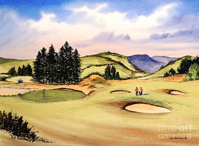 Golf Art Painting - Gleneagles Golf Course Scotland by Bill Holkham