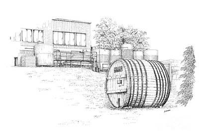 Glenora Winery Print by Steve Knapp
