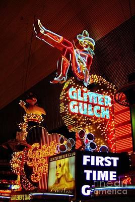 Glitter Gulch Print by John Malone
