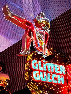 Glitter Gulch Photograph - Glitter Gulch by Randall Weidner