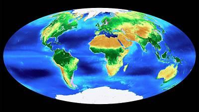 Global Biosphere Print by Nasa's Goddard Space Flight Center