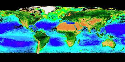 Global Biosphere Print by Nasa/seawifs/geoeye