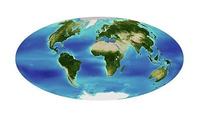 Global Chlorophyll Levels Print by Nasa Earth Observatory/ocean Color Web/geoeye