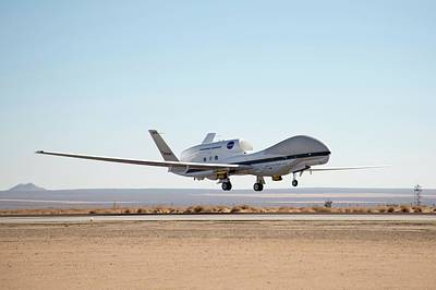 Hawkeye Photograph - Global Hawk Unmanned Aerial Vehicle by Nasa/jim Ross