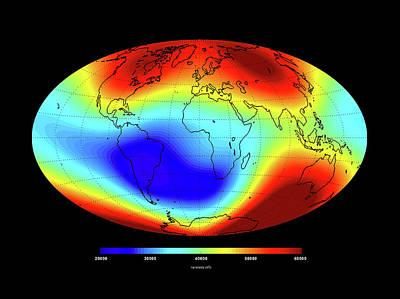 Global Magnetic Field Print by European Space Agency/dtu Space