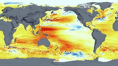 Global Sea Level Rise Print by Nasa's Scientific Visualization Studio