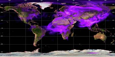 Global Soot Pollution Levels Print by Noaa