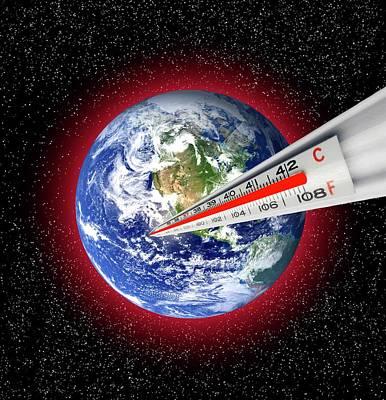 Global Warming Concept Print by Victor De Schwanberg