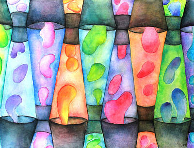 Hot Wax Painting - Globs by Janet Immordino