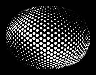 Globular Dots Print by Daniel Hagerman