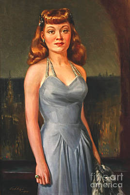 Cocktail Dress Painting - Gloria Grahame by Art By Tolpo Collection