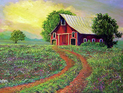 Glorious Day On The Farm Original by Lee Nixon