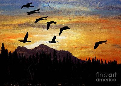 Glorious Mountain Print by R Kyllo